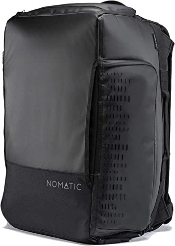 NOMATIC 30L Travel Bag- Duffel Backpack, Carry-on Size for Airplane Travel, Everyday Use with TSA Compliant Built in Laptop and Tablet Sleeve, Water Resistant, Ventilated Pockets