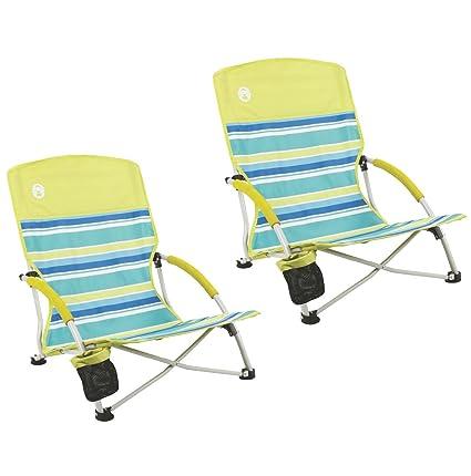 Image Unavailable  sc 1 st  Amazon.com & Amazon.com : Coleman (2) Utopia Breeze Beach Sling Camping Chairs w ...