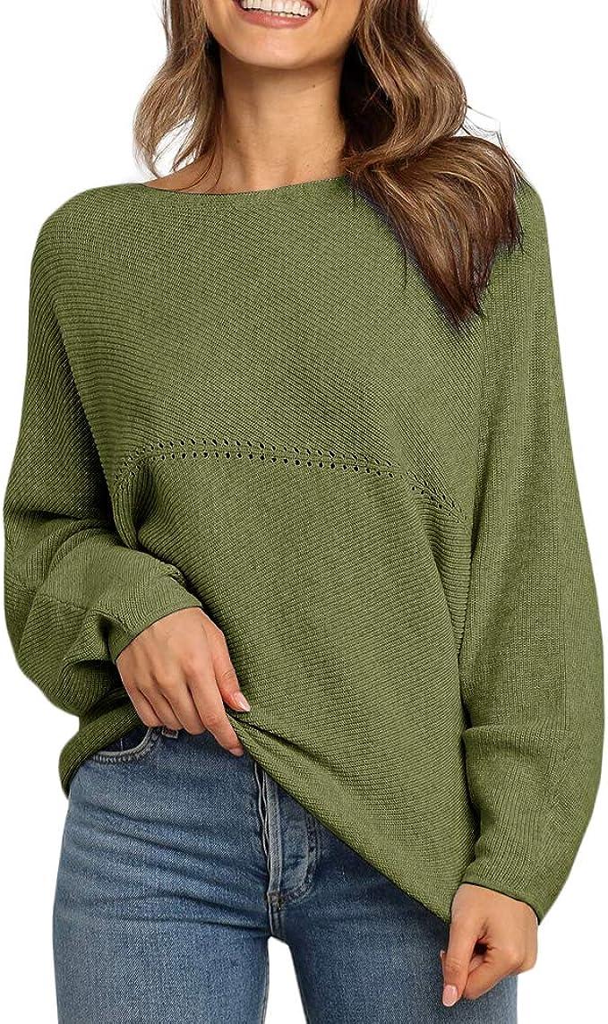 Women Off The Shoulder Tops Boat Neck T-Shirt Blouse Button Top Comfort Skew Collar Pullover Jumper