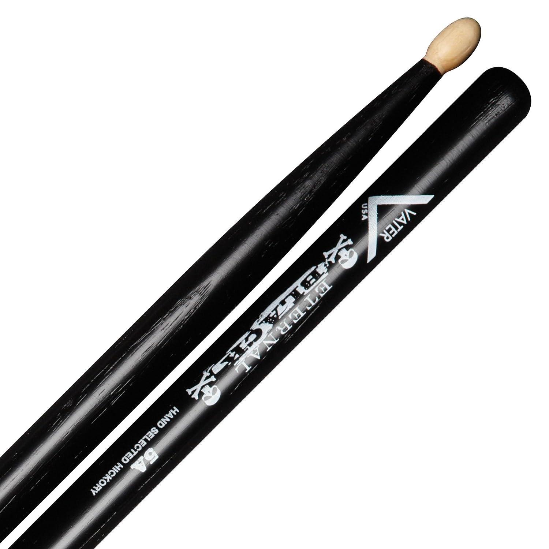 Vater Percussion 5A Drumsticks, Wood Tip, Eternal Black Vater Drumsticks VHEB5AW