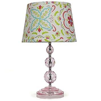 Amazon.com: Coral Floral Nursery lámpara de techo, con foco ...