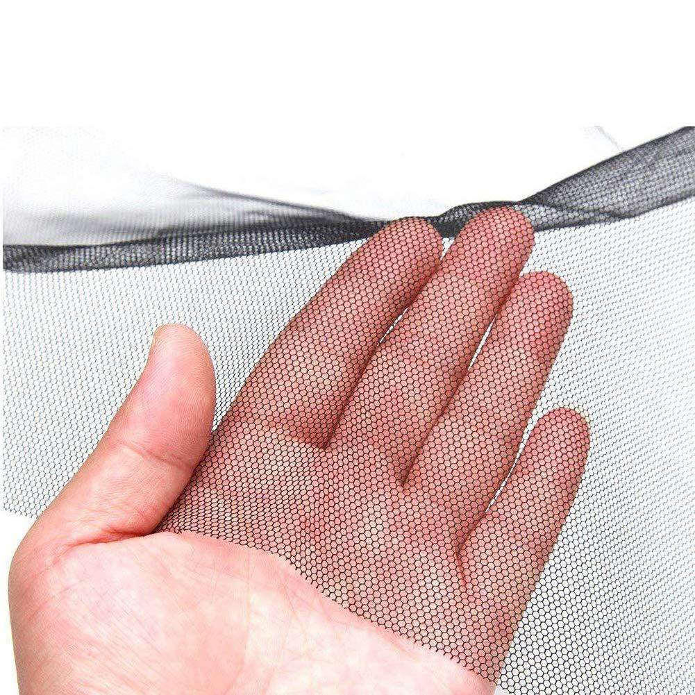 NAttnJf 3 Unids DIY Invisible Ventana Transparente Pantalla de Insectos Anti Mosquito Protecci/ón Net Black