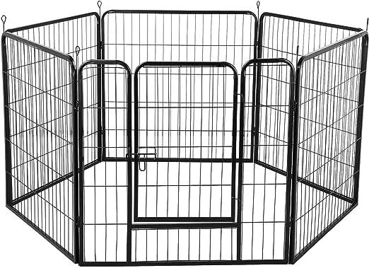 Yaheetech 80 x 80 cm 6 Paneles Parque para Perros Cachorros Valla Plegable para Perros Conejos Patos Jardín de Perros Valla Metálica de Cachorros: Amazon.es: Productos para mascotas