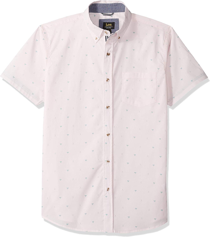 Lee Uniforms - Camisa de manga corta para hombre - Rosa - X-Large