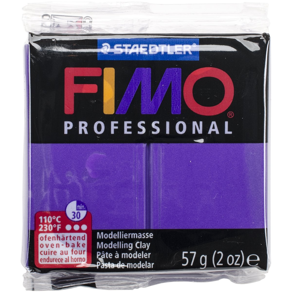 Staedtler Fimo Professional Soft Polymer Clay, 2 oz, Purple (EF8005-6)