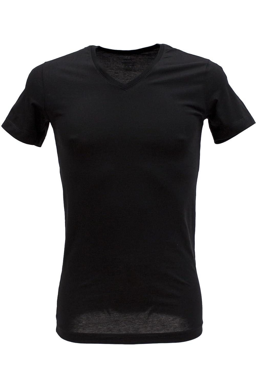RAGMAN schwarz im Doppelpack V-Ausschnitt Body Fit, 3XL