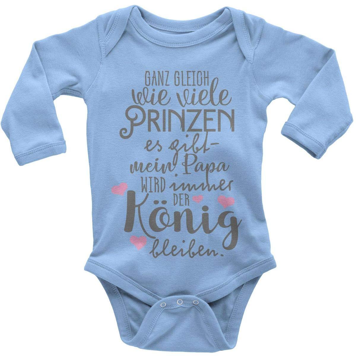 Mikalino Babybody mit Spruch für Jungen Mädchen Unisex Langarm Ganz gleich wie viele Prinzen es gibt | handbedruckt in Deutschland | Handmade with Love