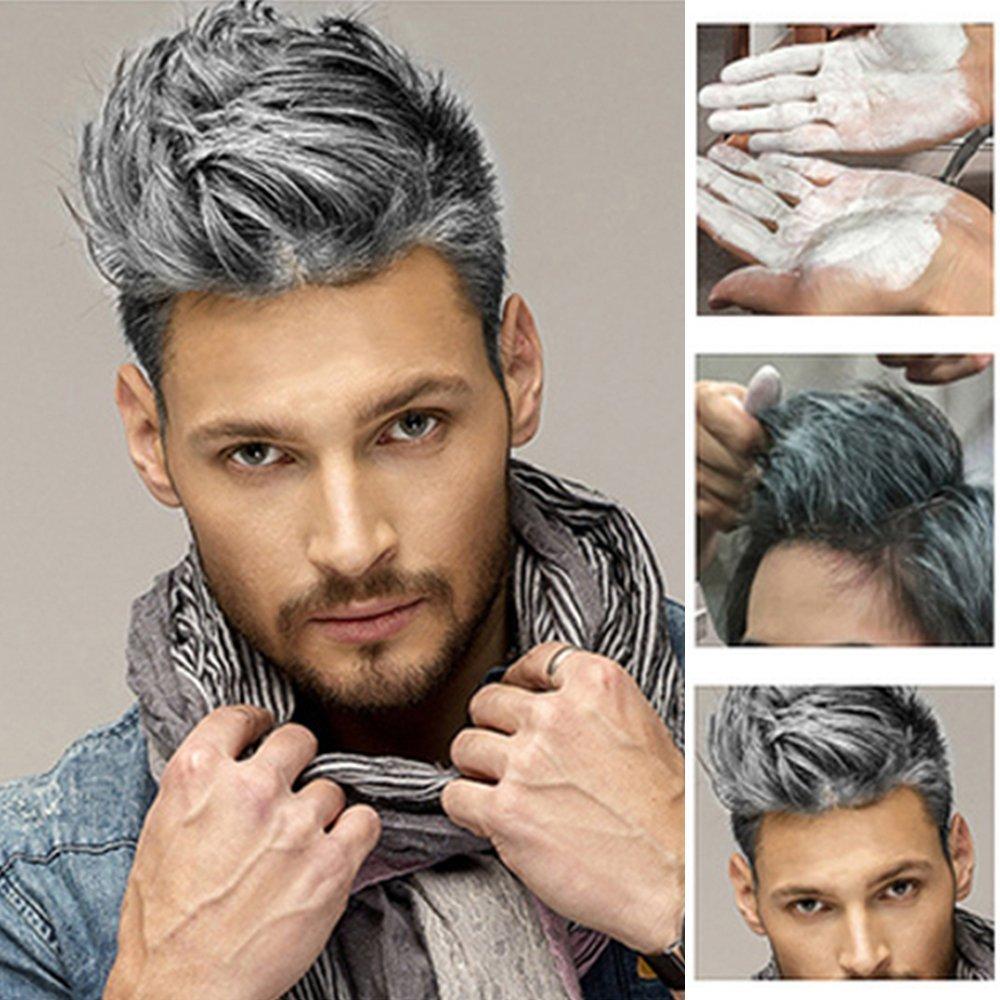 Coloration des cheveux chez un homme gris