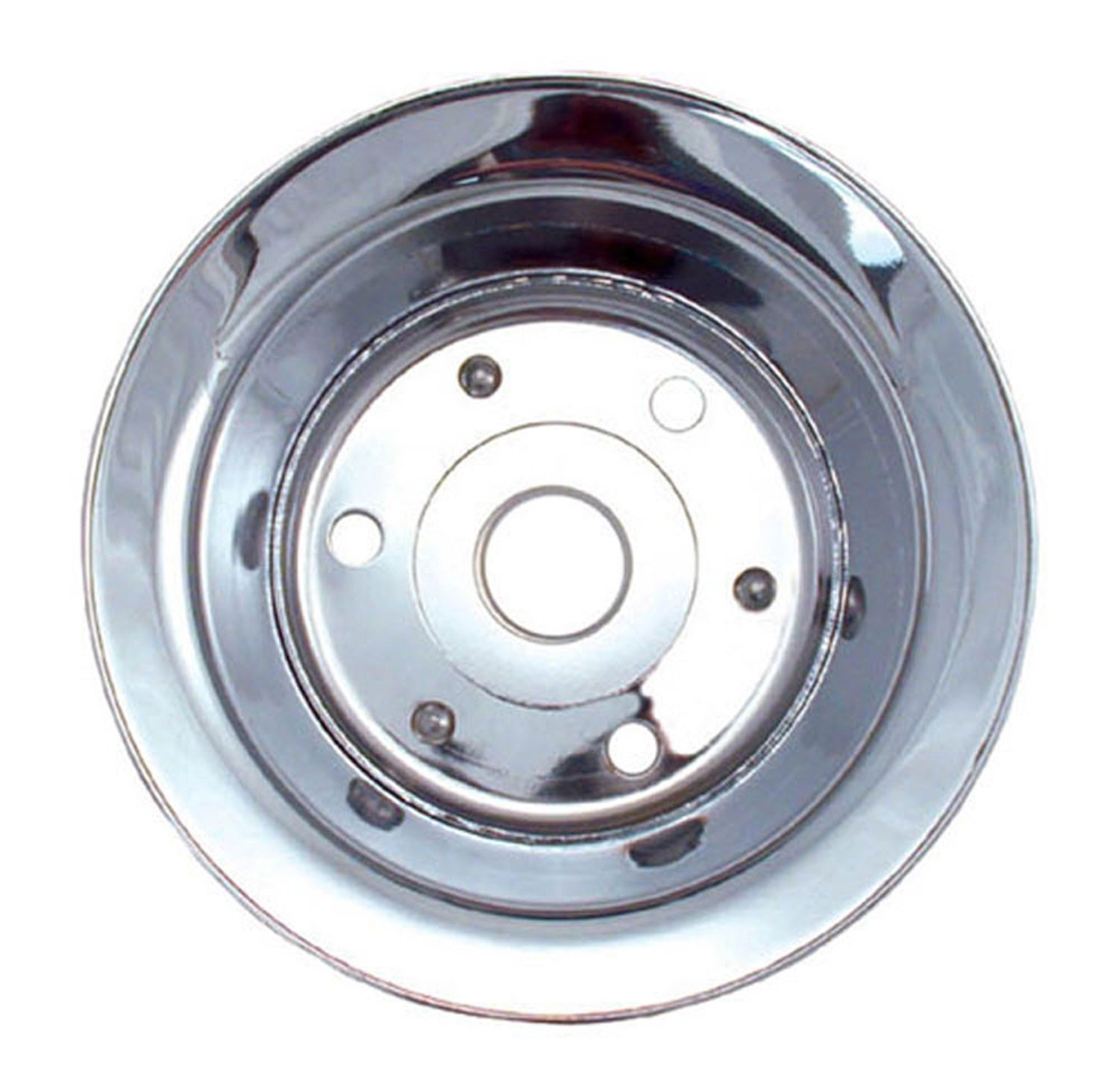 Spectre Performance 4428 Chrome Plated Crankshaft Pulley for Small Block Chevy SPE-4428