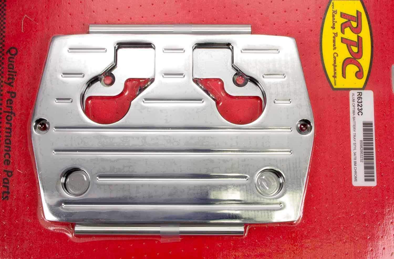Racing Power Company R6326C Smooth Chrome Aluminum Optima Battery Tray