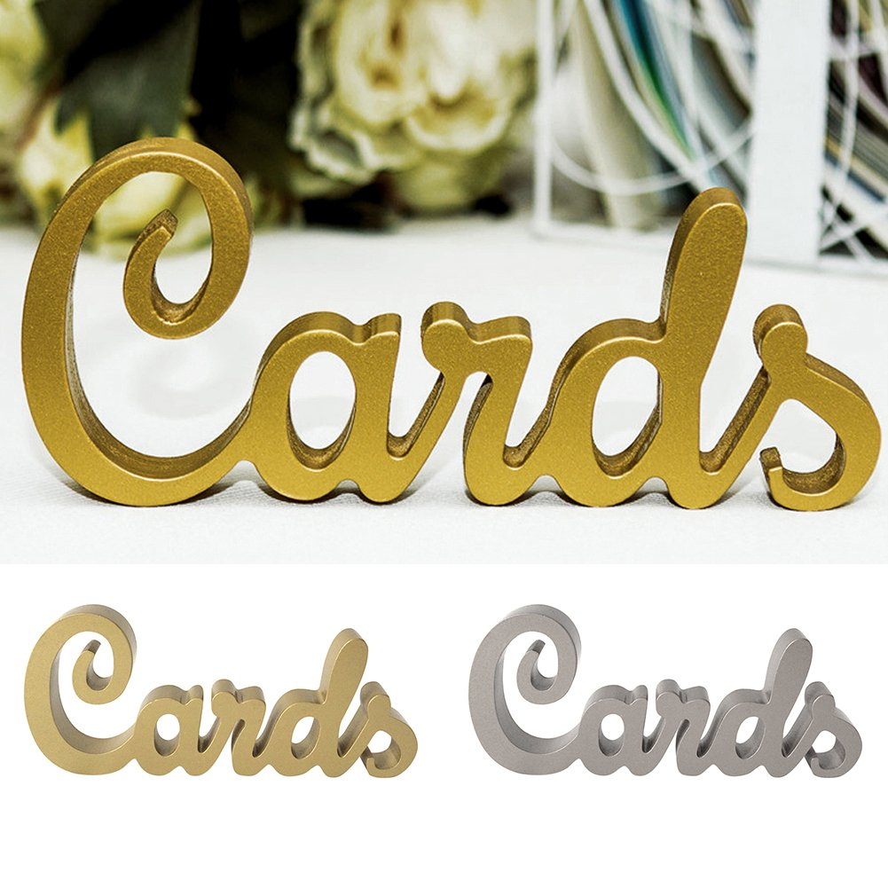 Catnew Wedding Cards Letter Design Table Sign Freestanding Wooden