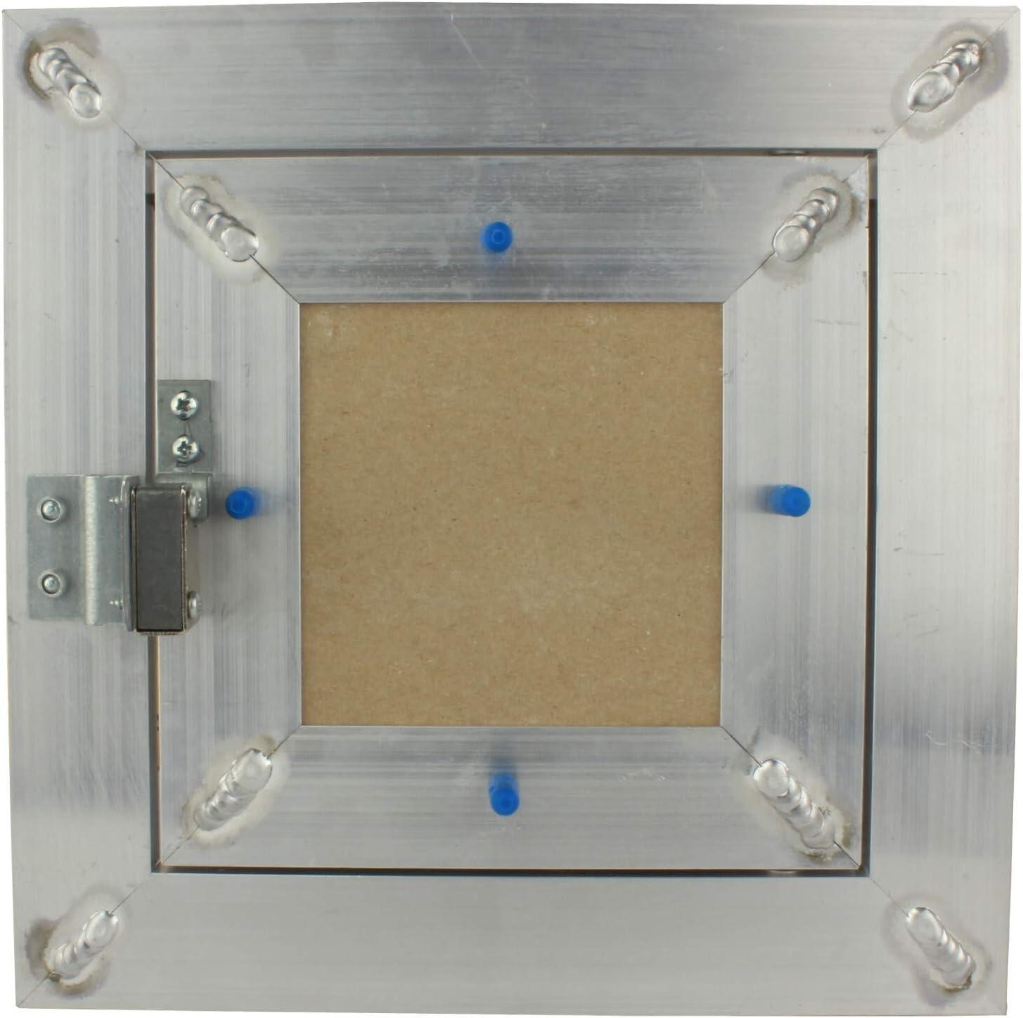 Wartungs Inspektionsklappe Revisionsklappe GK-Einlage Feuchtraum Gipskarton Alu VONLIS/® 150 x 150 mm