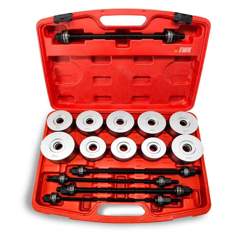 27pc Universal Press & Pull Sleeve Kit Bush Bearing Removal Insertion Set w/Case