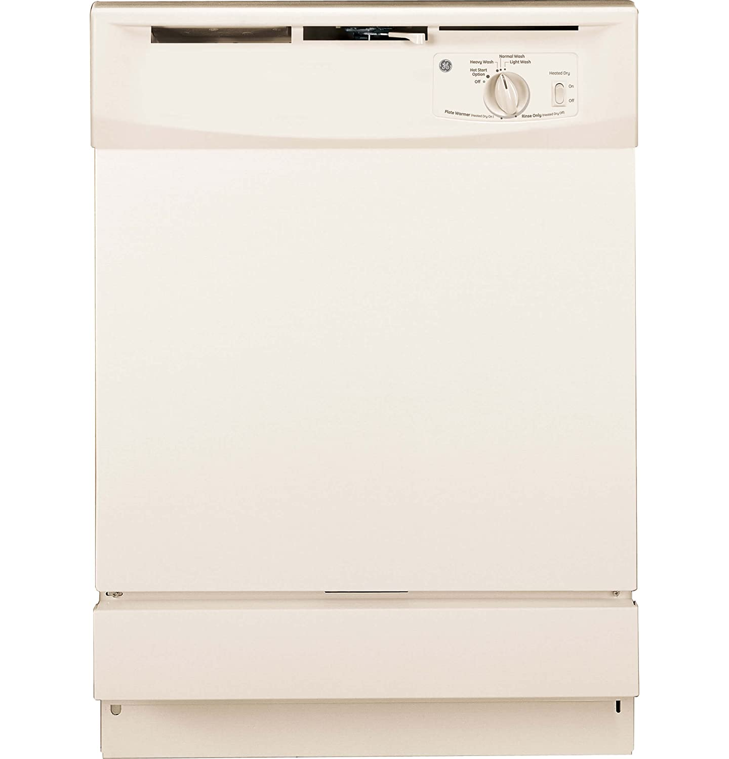 """GE GSD2100VCC 24"""" Bisque Full Console Dishwasher - Energy Star"""