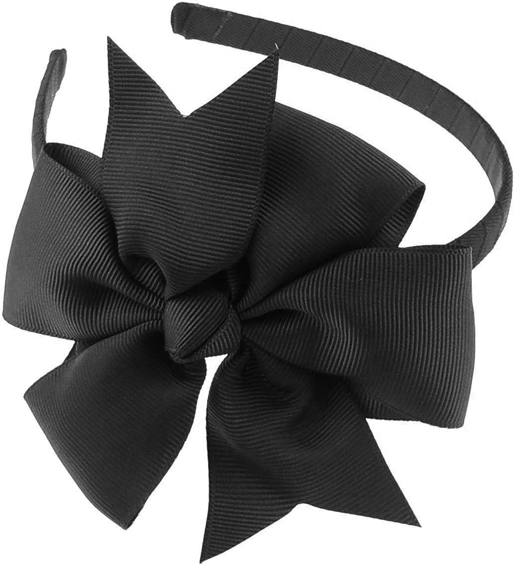 cerchietto con fiocco grande cannet/é per ragazze larghezza cerchietto 1/cm ideale per feste e per la scuola Glamour Girlz