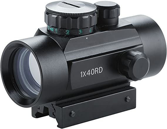 Pinty Tactical 1x30mm Reflex Red Green Dot Sight Riflescope with Free 20mm Mount Rails