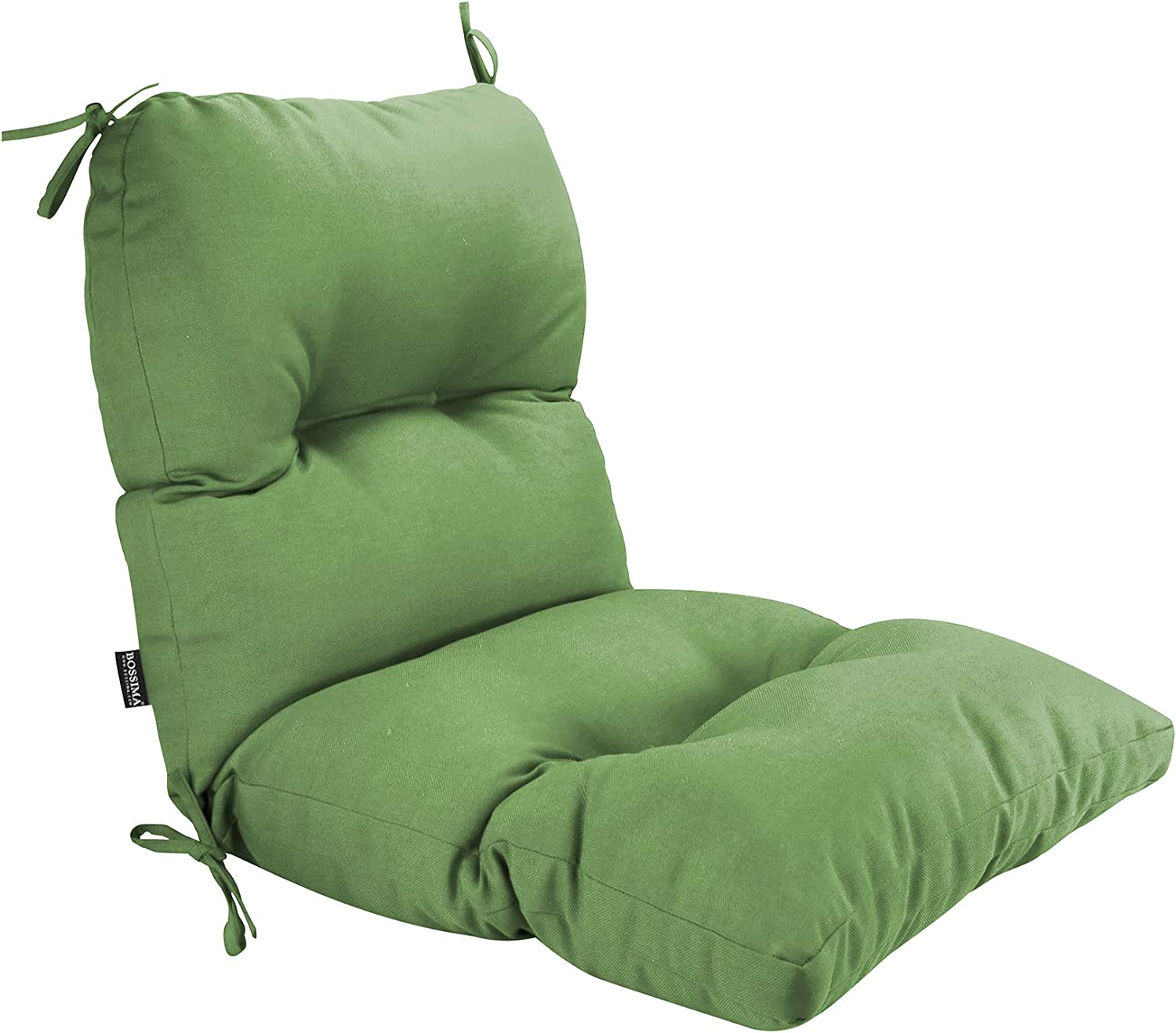 BOSSIMA Outdoor Indoor High Back Chair Tufted Cushions Comfort Replacement Patio Seating Cushions Deep Green