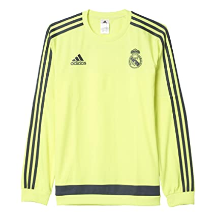 adidas Real Madrid CF Swt Top - Sudadera, Color Amarillo/Gris, Talla 3XL