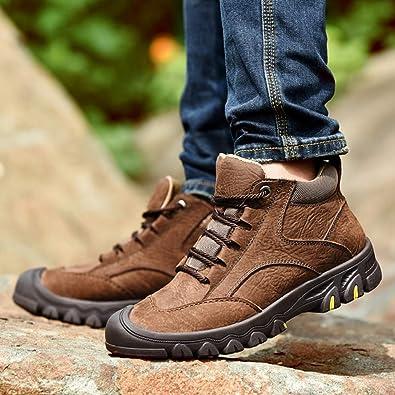 Amazon.com | DSFGHE Mens Boots Chukka Booties Leisure Work ...