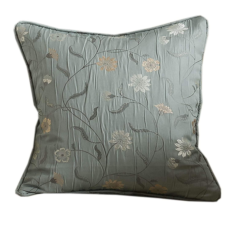 Amazon.de: Homescapes Kissenhülle für Zierkissen 43 x 43 cm Blaugrün ...