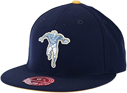 d6a71960 New York Titans Retro NFL Mitchell & Ness, Throwback Logo Fitted Hat, TK03,  Navy