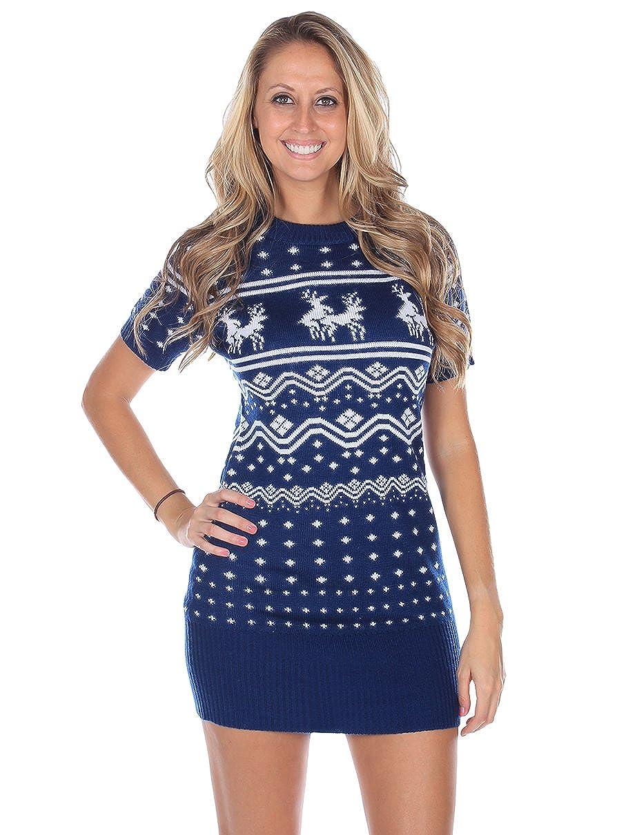 Amazon.com: Tipsy Elves Women\'s Ugly Christmas Sweater - Conga Line ...