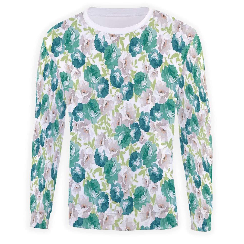Unisex Floral Sweatshirts Crewneck