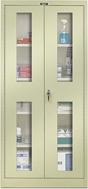 Amazon Com 400 Series 2 Door Storage Cabinet Color Parchment Modular Storage Systems Office Products