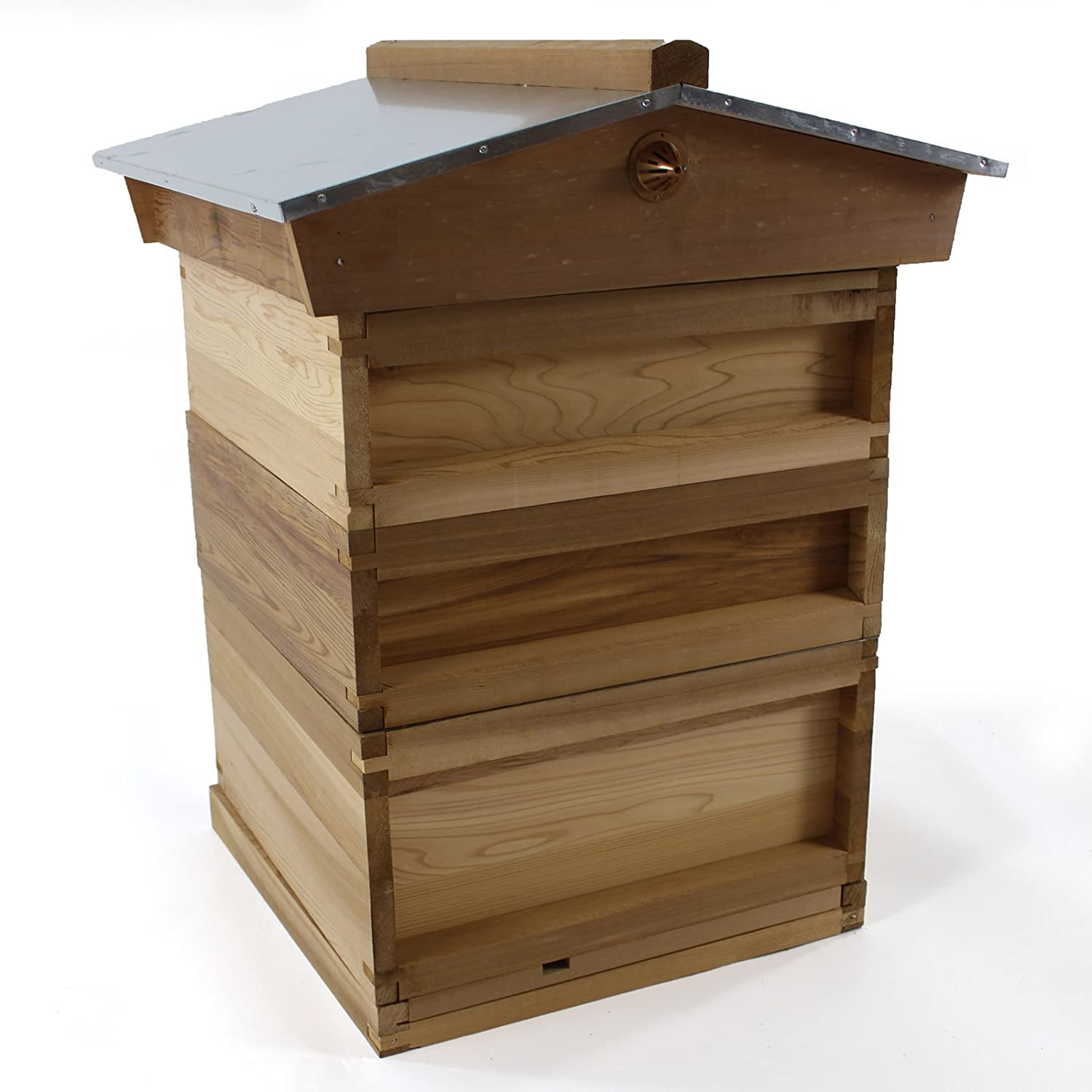 Easipet National Bee Hive with Gabled Roof in Cedar 266