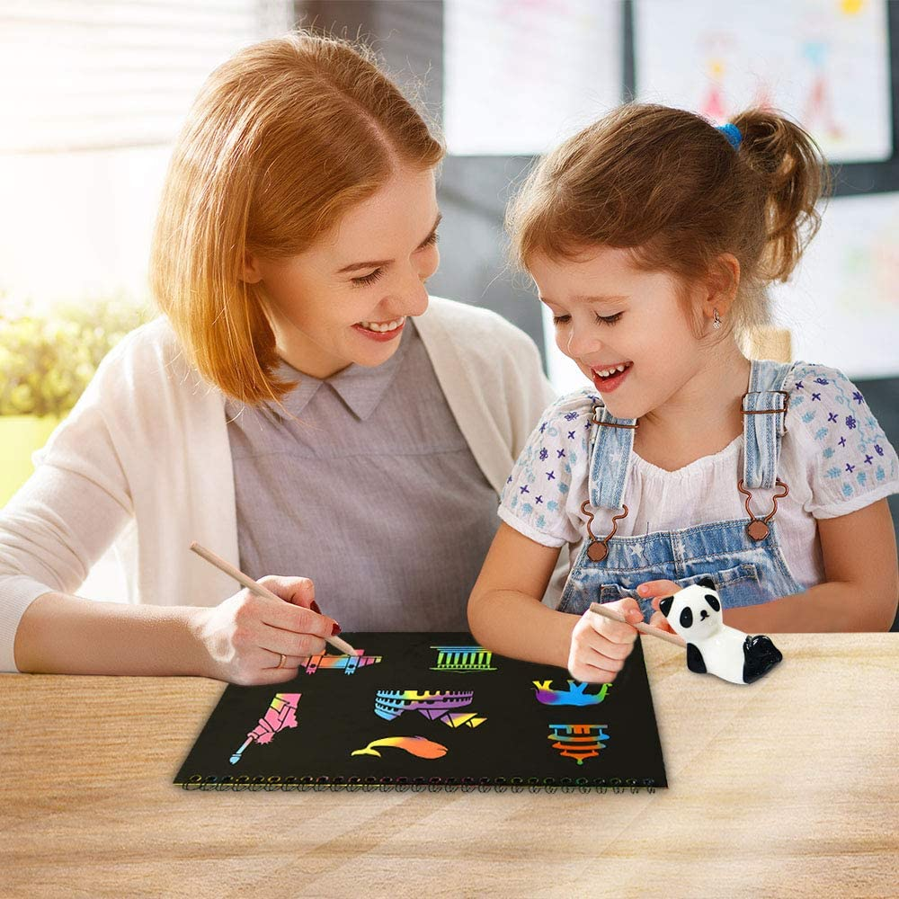 Best Gifts dmazing Create Rainbow Scratch Art for Kids 2 Packs with Pattern Template