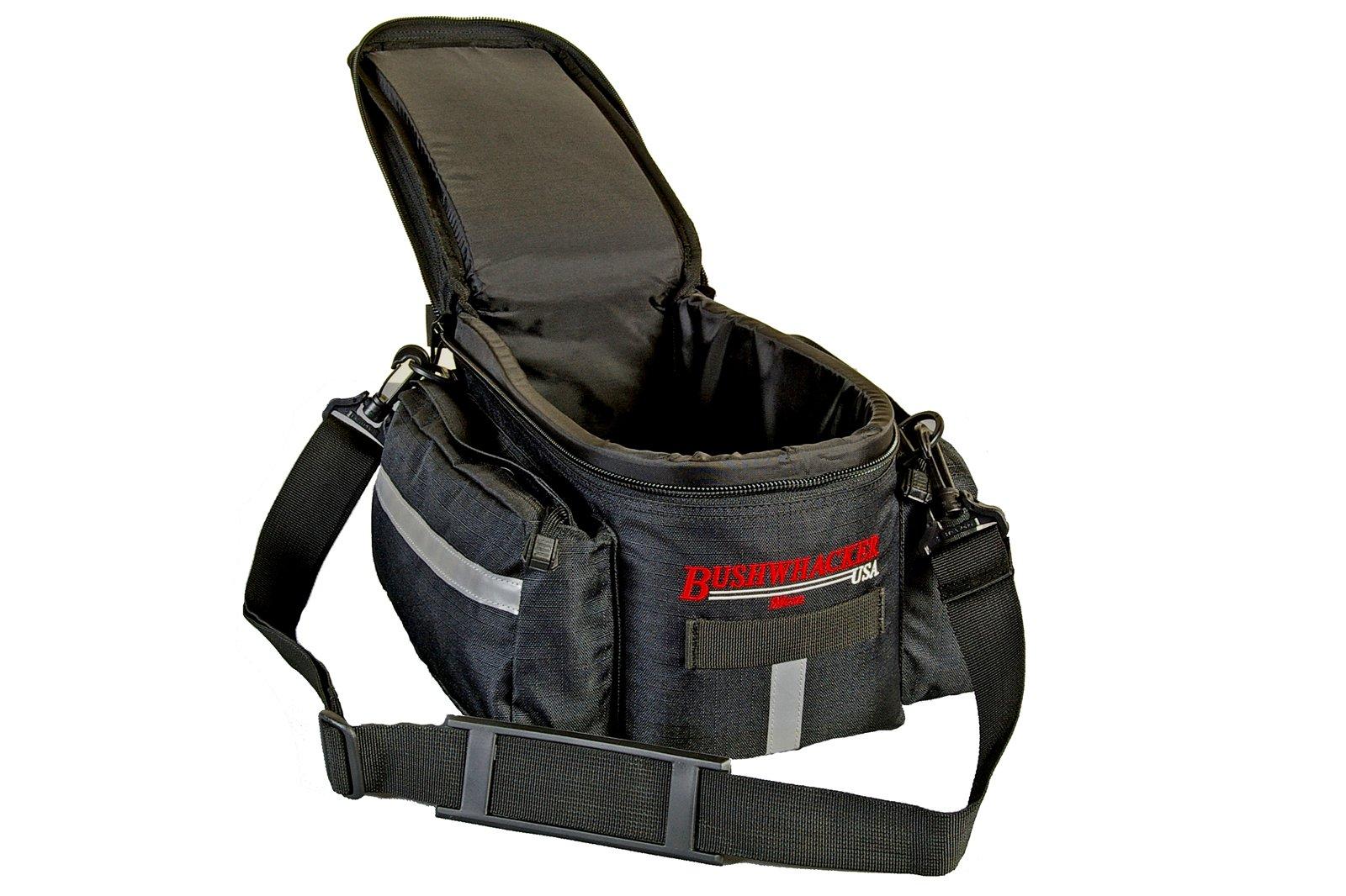 Bushwhacker® Mesa Trunk Bag Black - w/ Rear Light Clip Attachment & Reflective Trim - Bicycle Trunk Bag Cycling Rack Pack Bike Rear Bag by Bushwhacker (Image #3)
