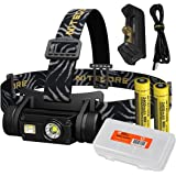 Nitecore HC65 1000 Lumen Triple Light Source Micro-USB Rechargeable Headlamp Plus 1x 3400mAh Rechargeable Battery, F1 Outdoor Battery Charger and Lumen Tactical Battery Organizer