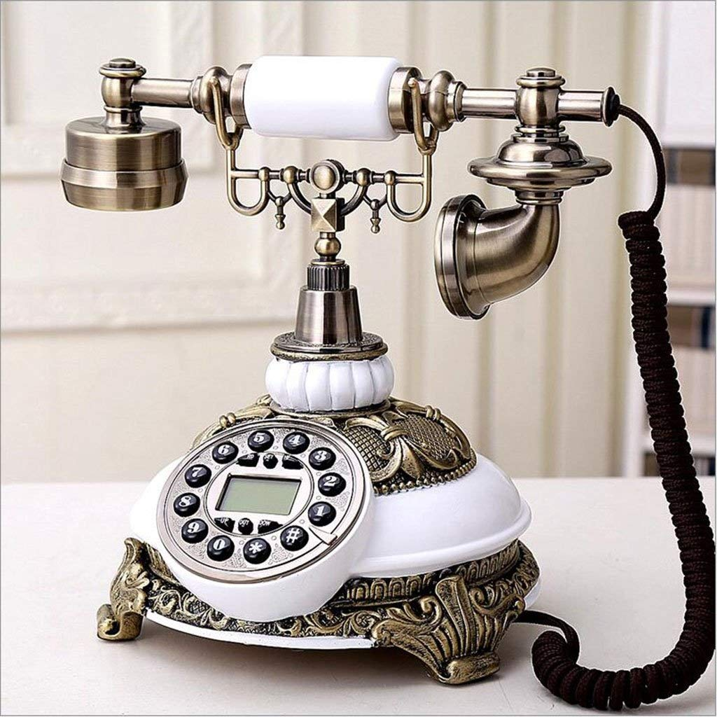 固定電話 ヨーロッパのレトロなビンテージ電話本社固定電話 固定電話 B07QPMQQP3