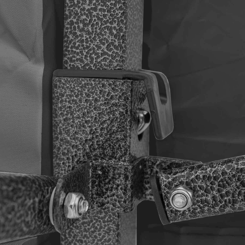 Gazebo Pop-up Senza Lati Colore: Nero 3 x 3 m AirWave Essential