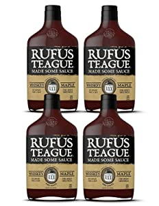 Rufus Teague - Whiskey Maple BBQ Sauce - Premium Barbecue Sauce - 16 oz. Bottles - 4 Pack