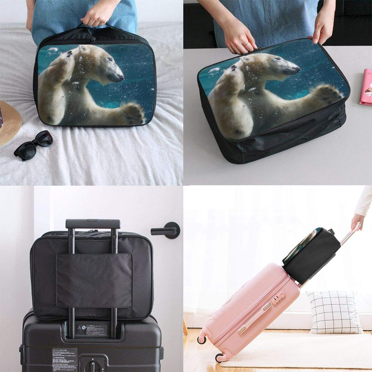 Travel Luggage Duffle Bag Lightweight Portable Handbag Swimming Polar Large Capacity Waterproof Foldable Storage Tote