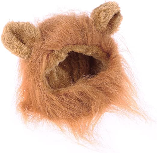 UEETEK Mascota Disfraz León Melena Peluca Leon para Gato Perro Pequeño Ajustable (Marrón Claro): Amazon.es: Productos para mascotas