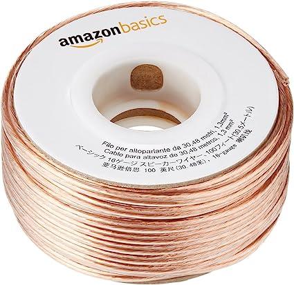 Amazon Basics 16 Gauge Speaker Wire 100 Feet Elektronik