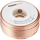 AmazonBasics 100ft 16-Gauge Audio Stereo Speaker Wire Cable, 100 Feet