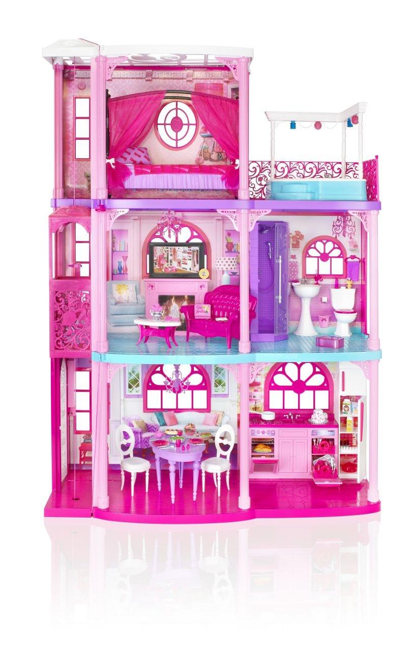 Mattel Barbie X3551 - 3-stöckige Traumvilla mit viel Zubehör ...