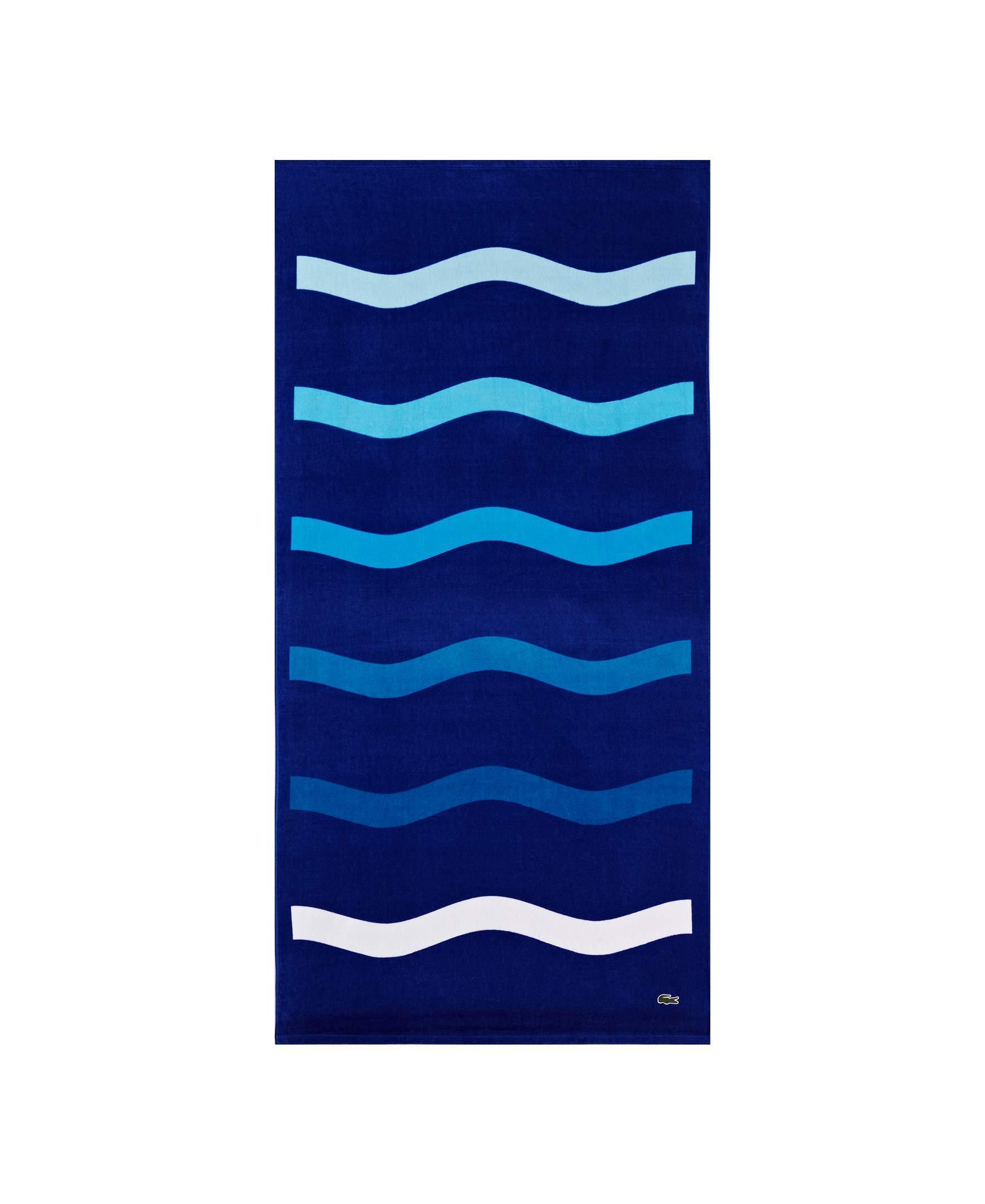 Lacoste Kane Beach Towel Blue