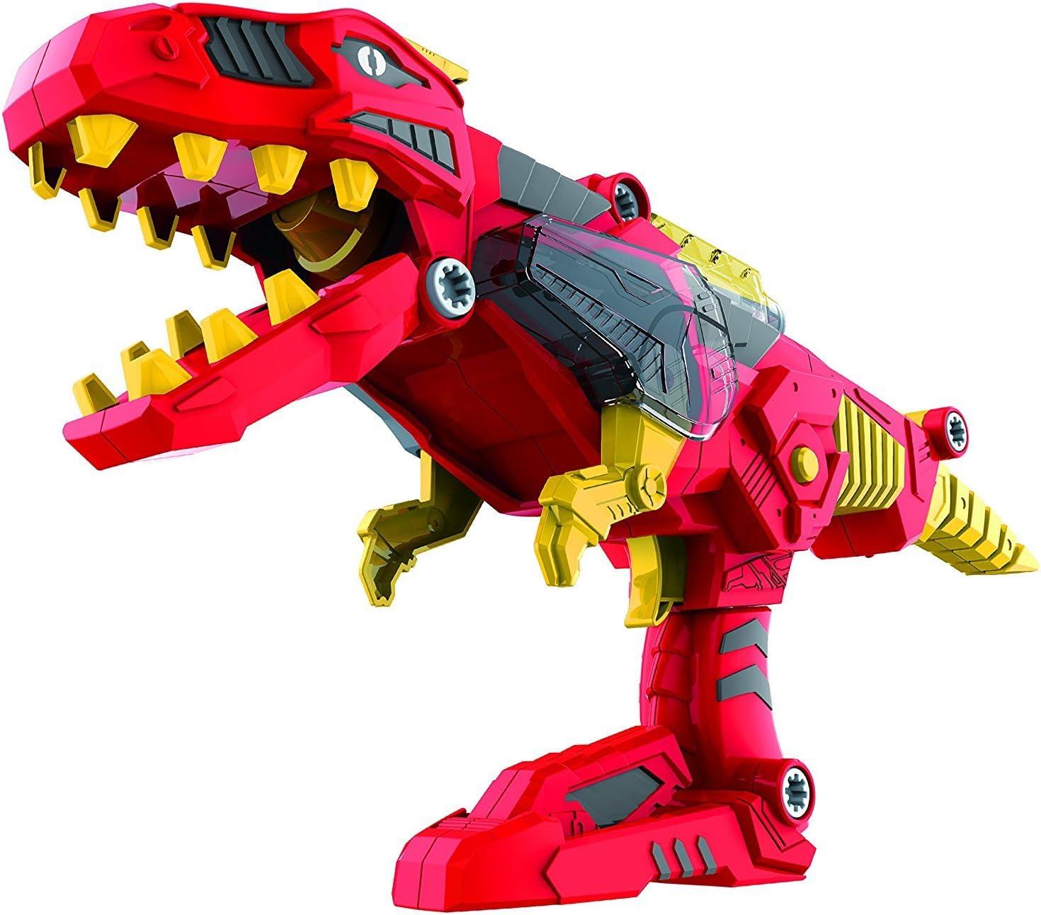 DinoBlaster 2 in 1 Transforming Dinosaur Toy Gun TG662 – Build & Take Apart Cool Tyrannosaurus Rex Dinosaur Toy for Boys & Girls Age 3 4 5 by ThinkGizmos (Trademark Protected)