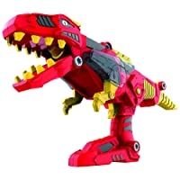 DinoBlaster 2 in 1 Transforming Dinosaur Toy Blaster TG662 - Build & Take Apart Cool Tyrannosaurus Rex Dinosaur Toy for Boys & Girls Aged 3+ By ThinkGizmos (Trademark Protected)