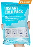 """IceWraps 6"""" x 9"""" Instant Cold Breakable Ice Packs - Emergency Disposable First Aid Ice Packs (24 Pack)"""