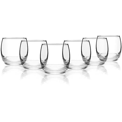 com-four® Vasos de whisky de 6 piezas Juego de diseño atemporal ...