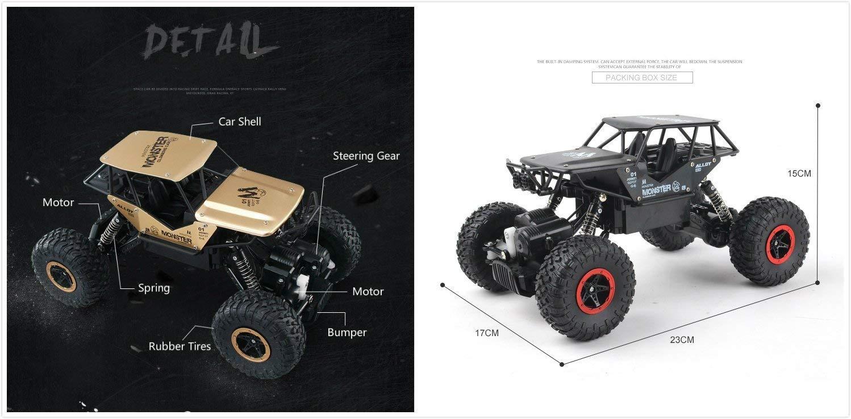 Noir Camion /à chenilles pour v/éhicules tout terrain /à la rocaille 2.4Ghz 4WD haute vitesse 1:14 Radio T/él/écommande Voitures de course /Électrique Fast Race Buggy Hobby Car Voitures RC