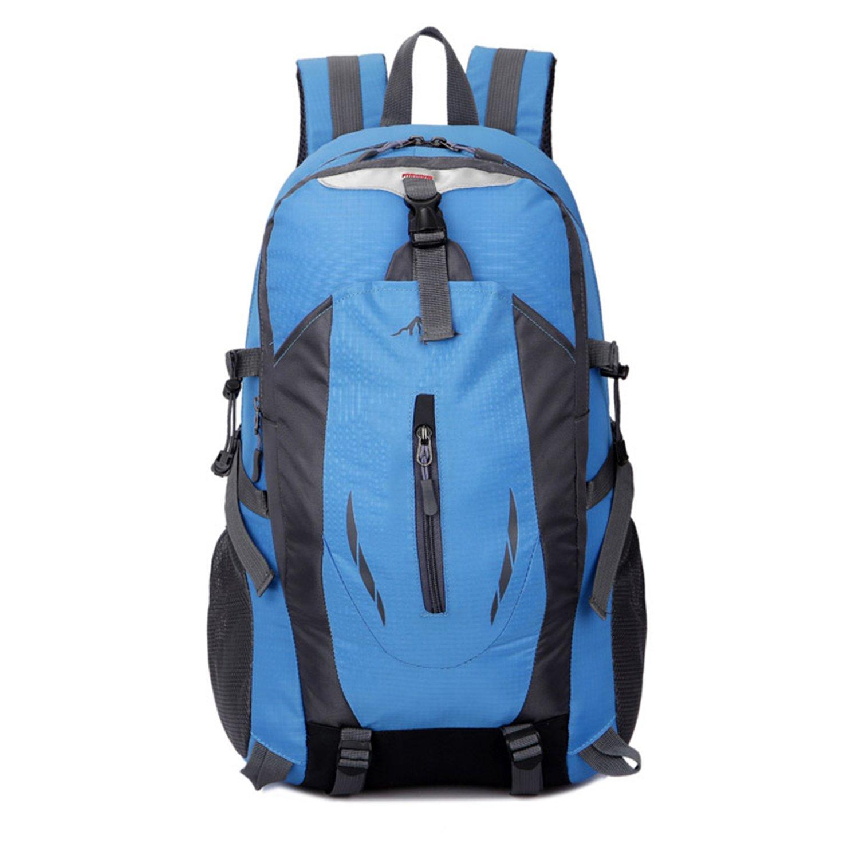 Amazon.com : Gouache 2018 Fashion School Bag Waterproof Nylon Men Backpack Bag Women Mochila Escolar Travel Bag Rucksack Trekking Bag Large Capacity Black ...
