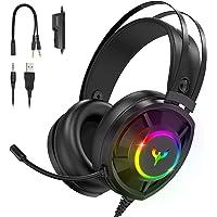 Blade Hawks Auriculares Gaming, Auriculares para Juegos con Sonido Envolvente, Efecto RGB, Orejeras Permeables al Aire…