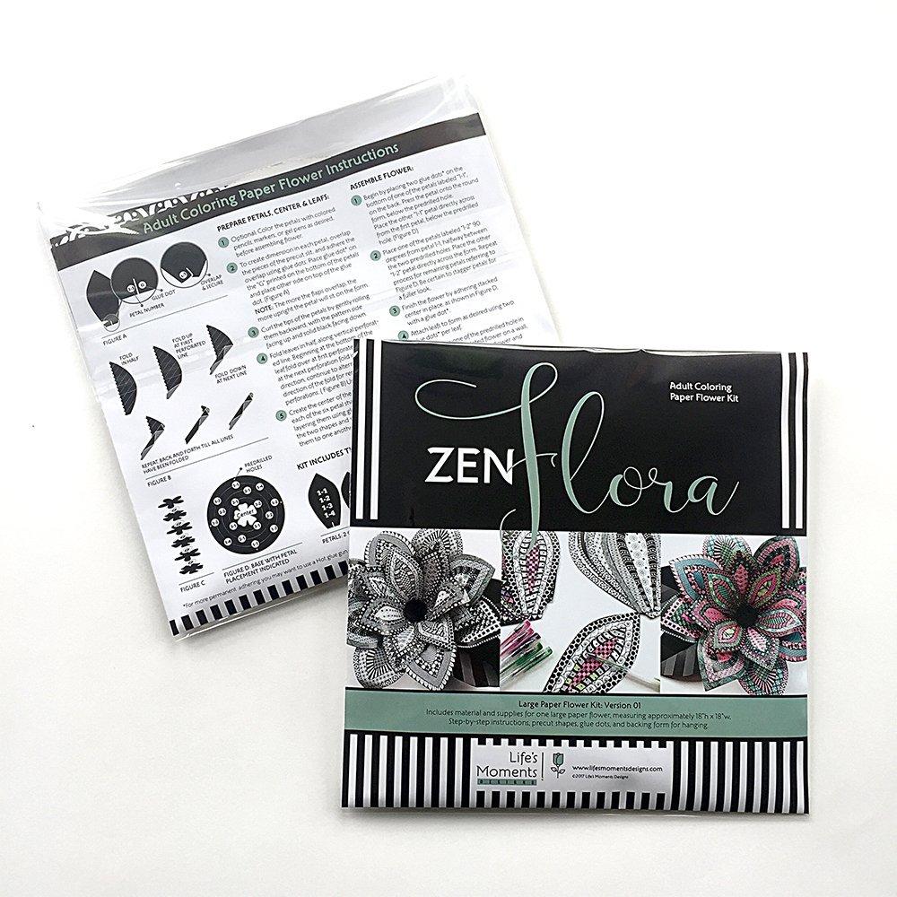 Amazon Com Adult Coloring Large Paper Flower Kit Handmade