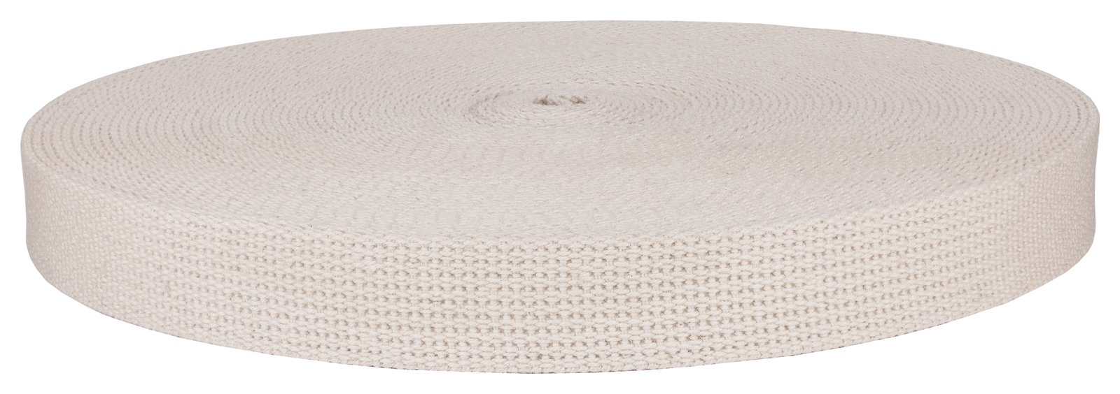 1 Inch Natural Heavy Cotton Webbing, Closeout, 50 Yards